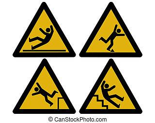 voorzichtigheid, tekens & borden