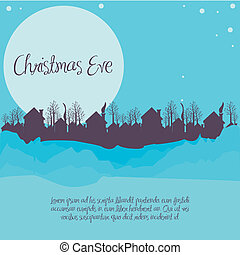 vorabend, weihnachten, nachbarschaft