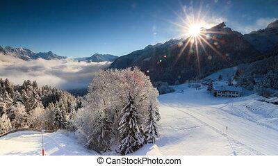 Vorarlberg sunrise timelapse