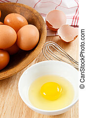 vorbereiten, eier