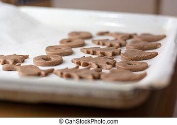 vorbereiten, ostern, lebkuchen, cookies.