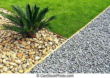 vorderes yard, design, landschaftsbild