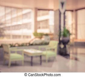 vorhalle, abstrakt, hintergrund, verwischen, hotel