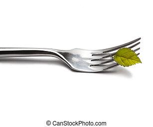 vork, witte achtergrond