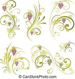 vorm, boekrol, wijntje