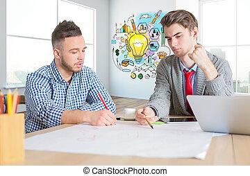 vorm een team werk, concept