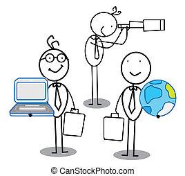 vorm een team werk, gelegenheid, &