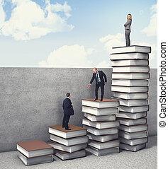 vorm een team werk, zakelijk, verbeteren
