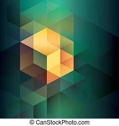 vorm, isometric, abstract, achtergrond