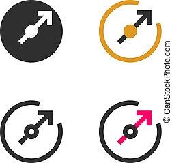 vorm, richting, indicator, richtingwijzer