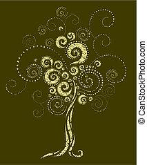 vorm, twirls, boompje