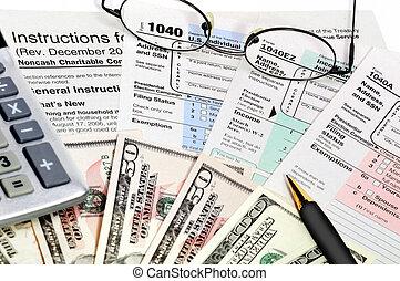 vormen, belasting, 1040.