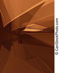 vormen, gebogen, ruimtelijk