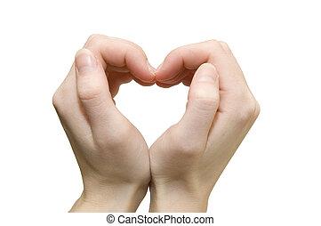 vormen, handen, hart