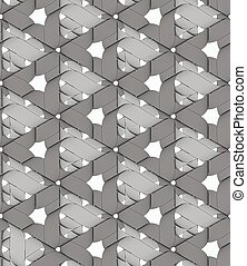 vormen, linten, driehoeken, model