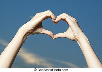 vormen, vorm, handen, hart