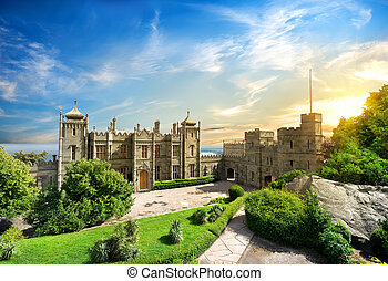 Vorontsov Palace in the town of Alupka, Crimea, Ukraine.