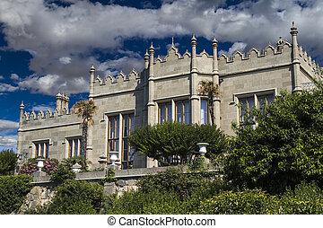 Vorontsov Palace in the town of Alupka, Crimea, Ukraine....