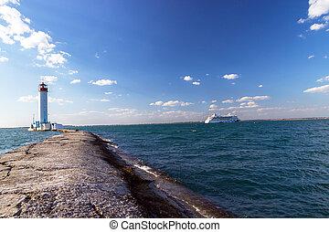 vorontsovsky, φάρος , θαλασσογραφία , aida , αύρα , κρουαζιερόπλοιο