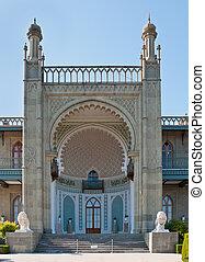 Vorontsovsky palace in Alupka, Crimea, Ukraine -...