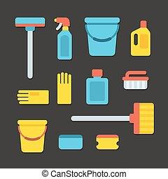 vorräte, putzen