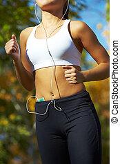 vorsichtig, jogging