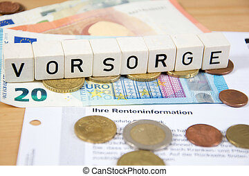 financial precautions - Vorsorge - the german word for ...