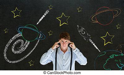 vorstellen, planet, raum, denken, universum, reise, system,...