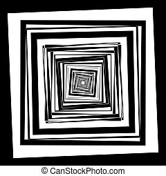 Vortex black frame to the center of the earth