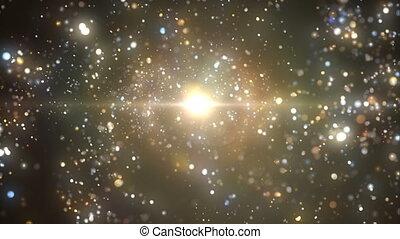vortex, cosmique, étincelant, étoiles