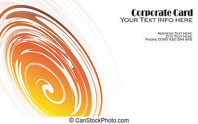 Vortex effect Business card - Red and yellow Vortex effect...