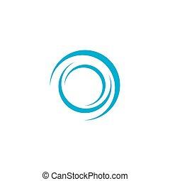 Vortex icon vector flat design