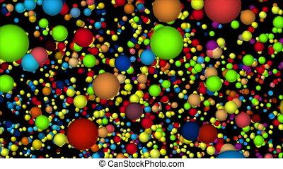 Vortex of crazy molecules