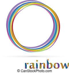 Vortex rainbow logo isolated on white background