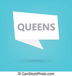 vortrag halten , königinnen, wortblasé
