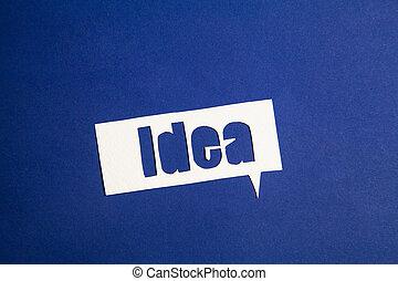 vortrag halten , wort, idee, blase
