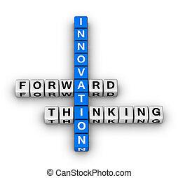 vorwärts, denken, innovation