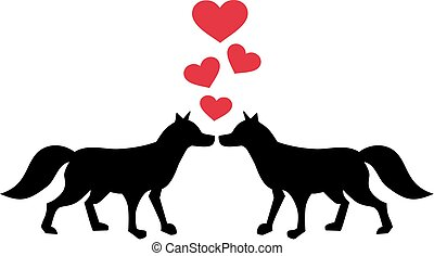 vos, liefde, twee