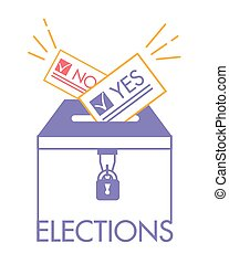 votación, concepto, en, lineal, estilo