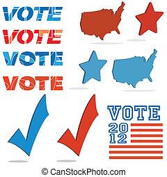 votación, conjunto