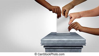 votación, diversidad, concepto