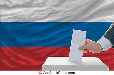 votación, elecciones, hombre, rusia