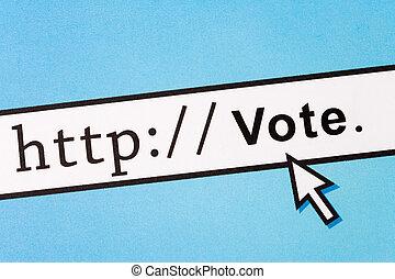 votación, en línea