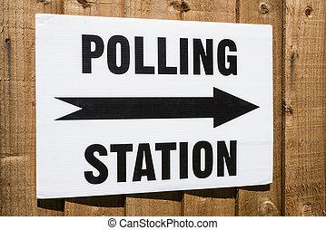 votación, estación, señal