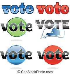 votación, iconos
