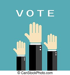 votación, manos