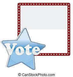 votación, plano de fondo