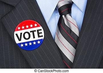 votación, político