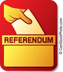 votación, referendum