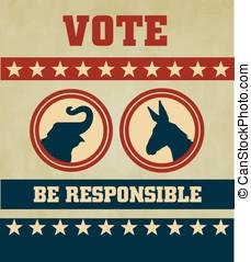 votación, símbolos